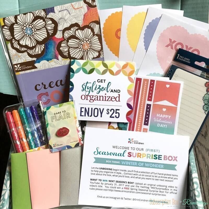 Erin Condren Seasonal Surprise Box Giveaway!