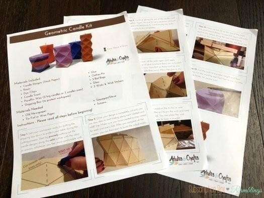 Adults & Crafts Review: Geometric Candle Kit - January 2017