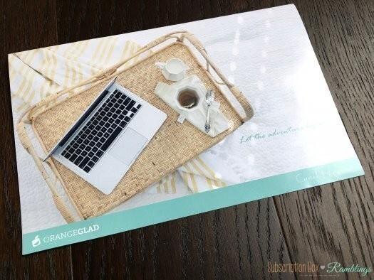 Orange Glad Subscription Box Review - December 2016 + Coupon Code