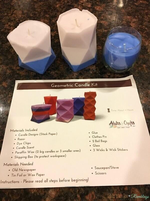 Adults Amp Crafts Review Geometric Candle Kit January