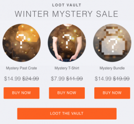Loot Vault Winter Mystery Sale + Changes to the Loot Vault