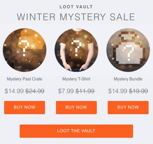 Loot Vault Winter Mystery Sale – Last Call!