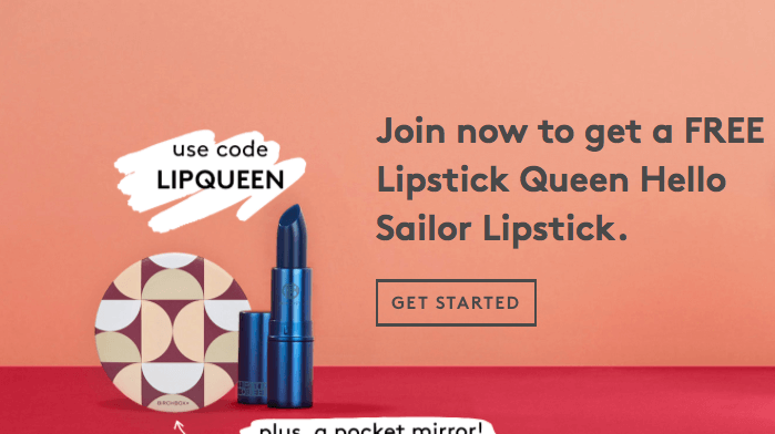 Birchbox Coupon Code – Free Lipstick Queen Lipstick + Mirror with New Subscription