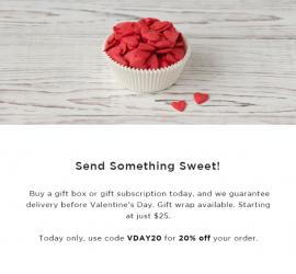 Orange Glad Valentine's Day Sale - Save 20%!
