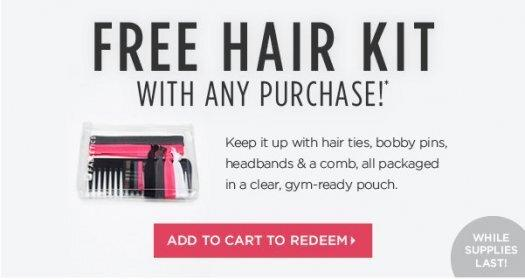 Fabletics FREE Hair Kit with ANY Purchase!