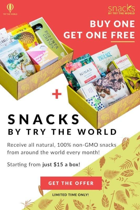 Snacks by Try The World: Buy One Box, Get the Second Free!