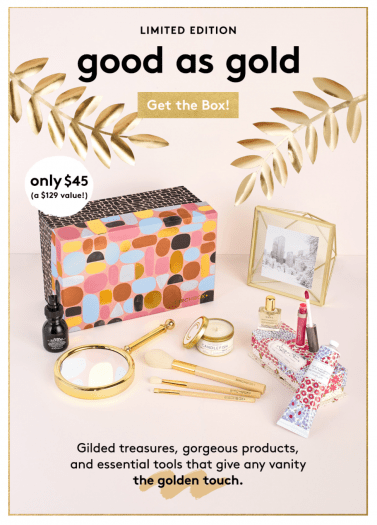 Birchbox – Good As Gold Limited Edition Box – $21 Shipped!