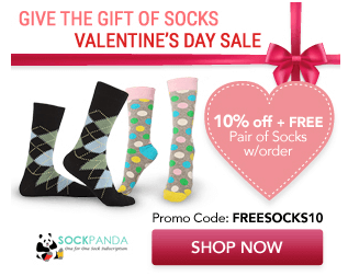 Sock Panda Valentine's Day Sale – Free Socks + 10% Off Subscriptions