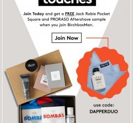 Birchbox Man Coupon Code: Free Pocket Square & Aftershave Sample with New Subscriptions