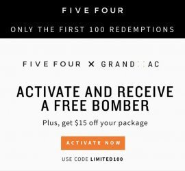 Five Four Club Coupon Code - Free Jacket + $15 Off First Box