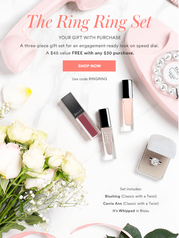 """Julep – """"The Ring Ring Gift Set"""" – Free with $30 Purchase"""