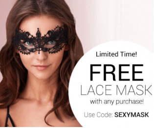 Adore Me – Free Lace Mask with Any Purchase