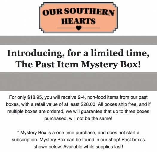 Our Southern Hearts Mystery Box Sale