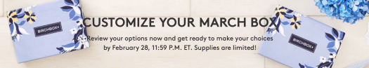Birchbox March 2017 Sample Choice Reveal + Coupon Code