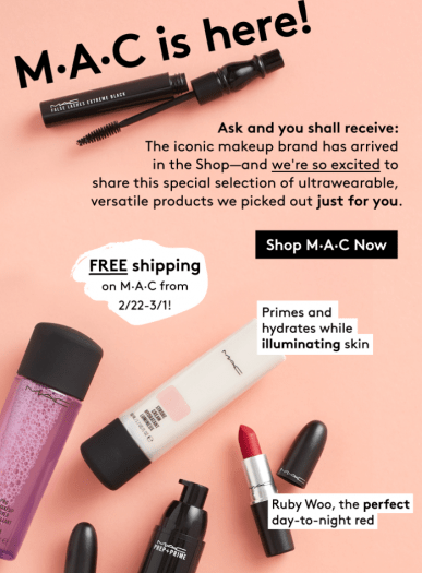 M.A.C. Cosmetics is now at Birchbox + Coupon Code!