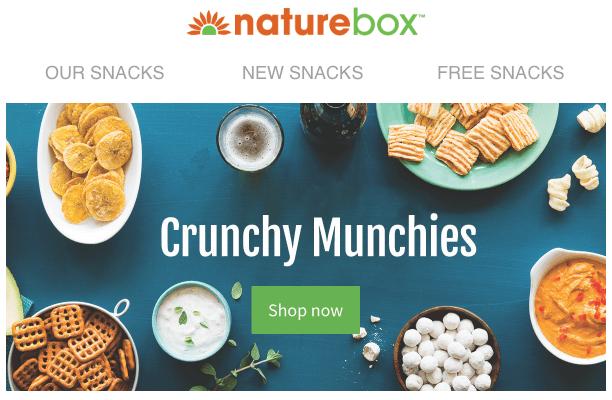 NatureBox Coupon Code – 3 Free Snacks