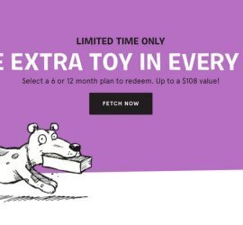 BarkBox Free Extra Toy Per Month