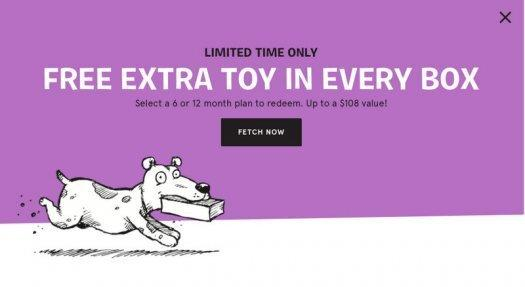 BarkBox Coupon Code: Free Extra Toy Per Month