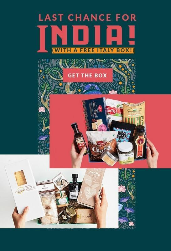 Try the World - Free Italy Box with India Box Purchase (Last