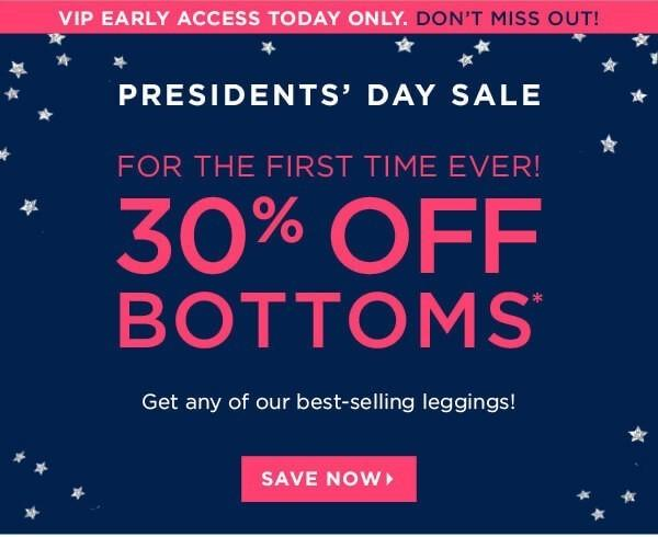 Fabletics President's Day Sale – 30% Off Bottoms