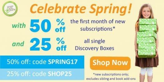 Green Kid Crafts Coupon Code – 50% Off First Box + 25% Off Past Boxes!