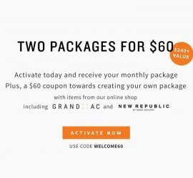 Five Four Club Coupon Code - Two Packages for $60!