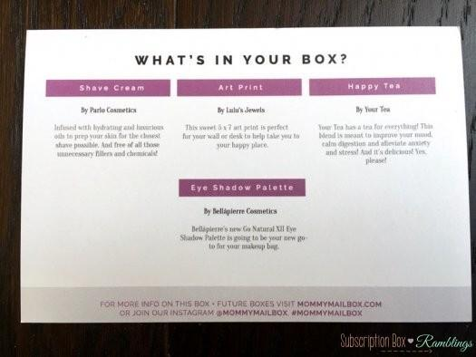 Mommy Mailbox Review - March 2017