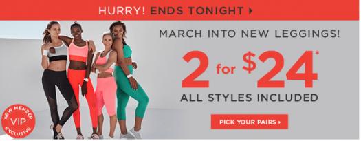 Fabletics 2 for $24 Leggings Offer (Last Call)