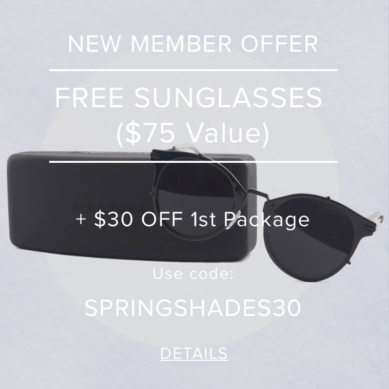 Five Four Club Coupon Code – 50% Off First Box + Free Sunglasses