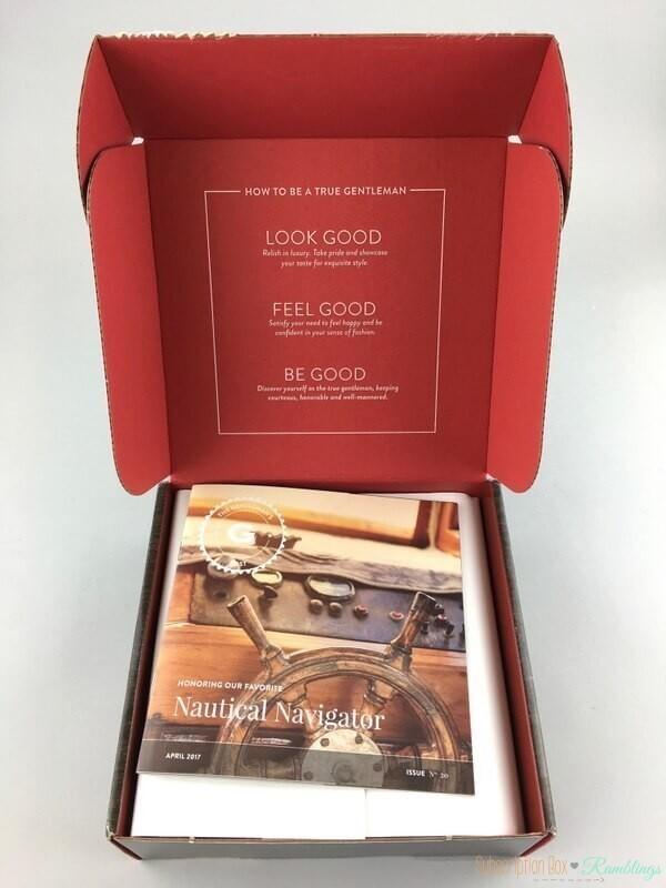 Gentleman's Box Review – April 2017