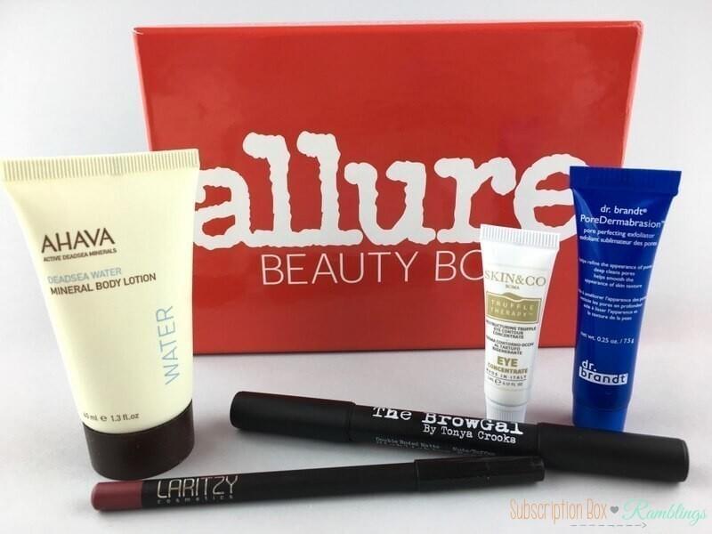 Allure Beauty Box Review – April 2017