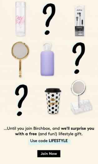 Birchbox Coupon – FREE Mystery Lifestyle Gift with New Subscription