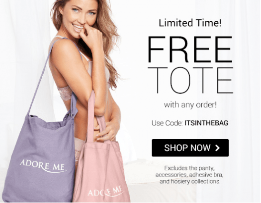 Adore Me Coupon Code – Free Tote with Purchase