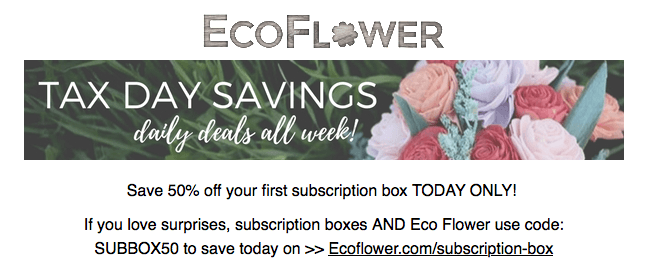 Eco flower coupon code