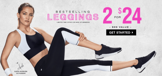 Fabletics Save Up to 20% In-Store OR 2 for $24 Leggings Offer Online