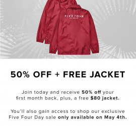 Five Four Club Coupon Code - 50% Off + Free $80 Jacket!