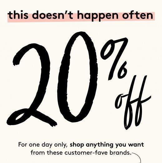 Birchbox Sale – 20% Off Select Brands!