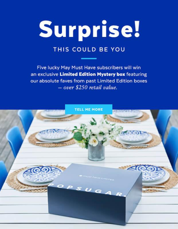 May 2017 POPSUGAR Must Have Box – Additional Information