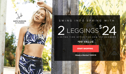 Fabletics Flash Sale - First Outfit for $19 OR 2 for $24 Leggings!!!!