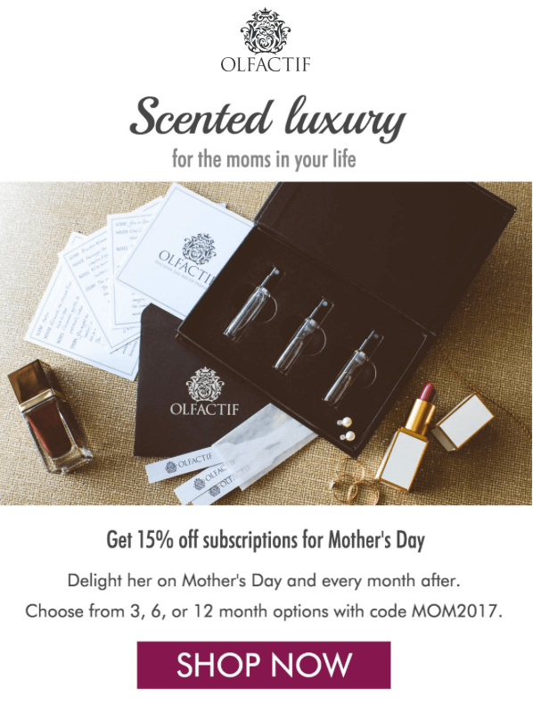 Olfactif – 15% Off Gift Subscriptions
