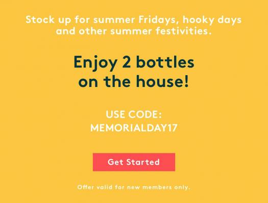 Wine Memorial Day Sale - Get 2 Bottles FREE!