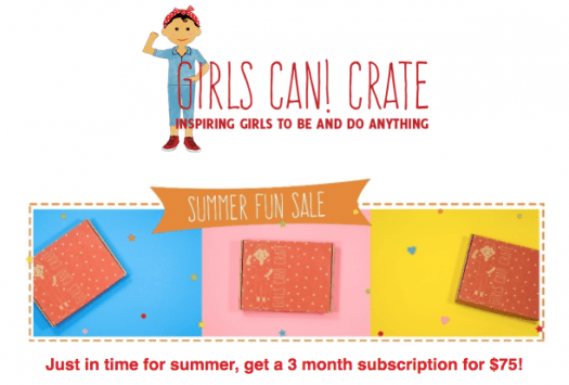 GIRLS CAN! CRATE Summer Sale!