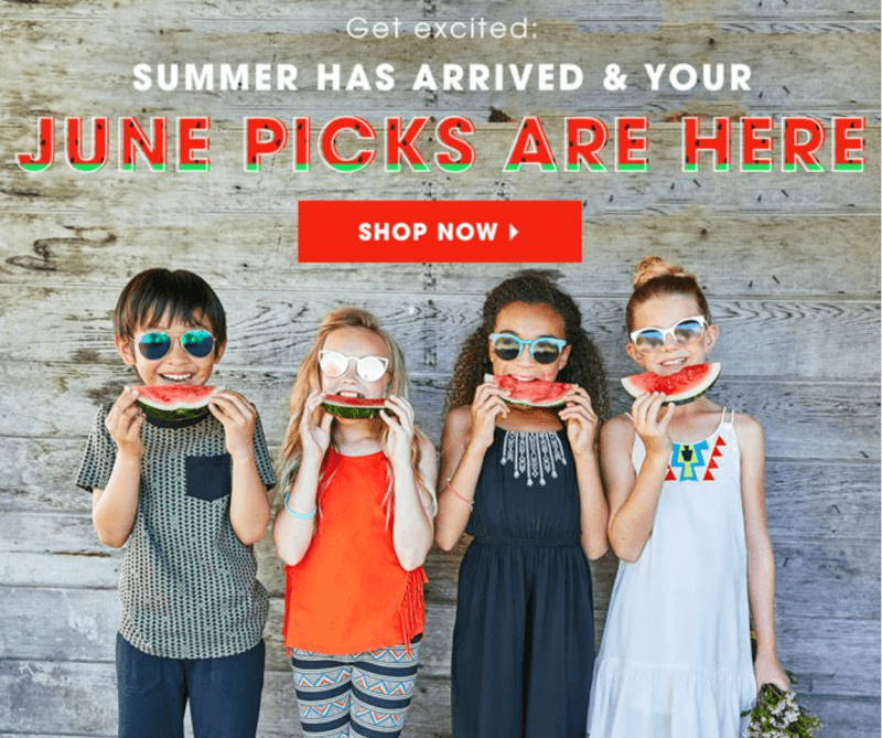 FabKids June 2017 Selection Time + New Subscriber Offer