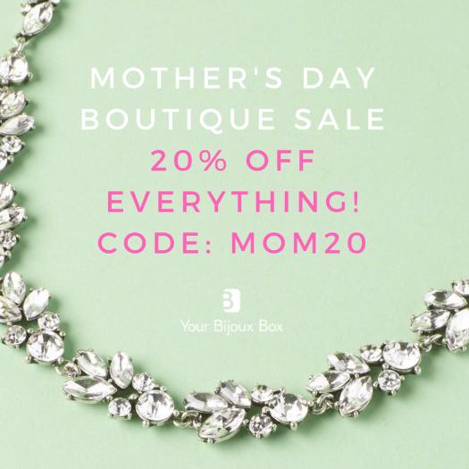 Your Bijoux Box Mother's Day Boutique Sale – Save 20%!