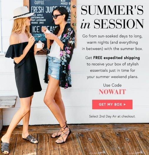Box of Style by Rachel Zoe Free Expedited Shipping or $10 Off + Summer 2017 FULL SPOILERS