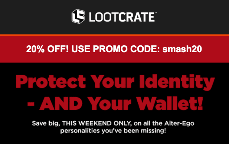 Loot Crate + Loot Crate DX + Loot Pets + Loot Wear – Save 20% Off!