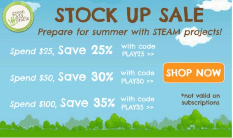 Green Kid Crafts Stock Up & Save Sale + July 2017 Sneak Peek!