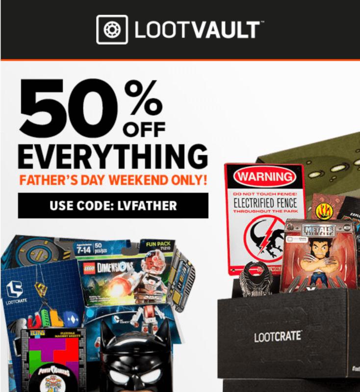 Loot Vault 50% Off Everything