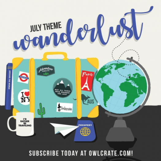 OwlCrate July 2017 Theme Reveal / Spoiler + Coupon Code