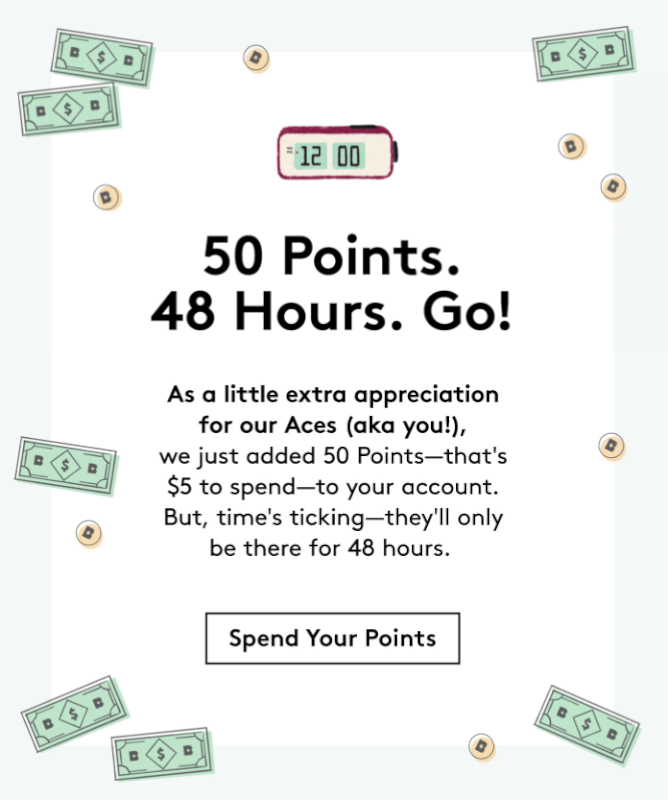 Birchbox ACES – 50 Points Added to Accounts!